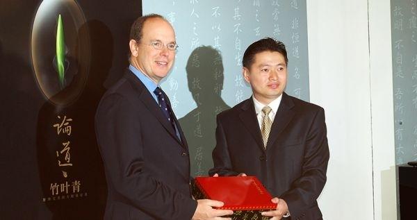 """▲资料图片:2006年4月,""""竹叶青论道""""作为中国品牌参加世界奢侈品展。"""