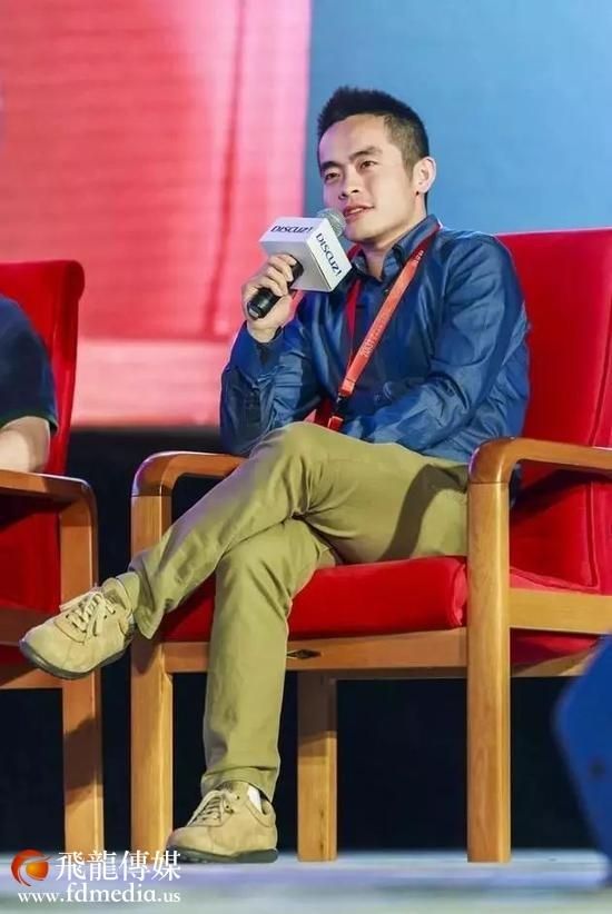 王悦在2013中国互联网创业者(站长)大会上(图片来源:视觉中国)