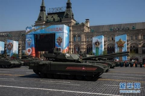 俄罗斯举行胜利日阅兵式彩排