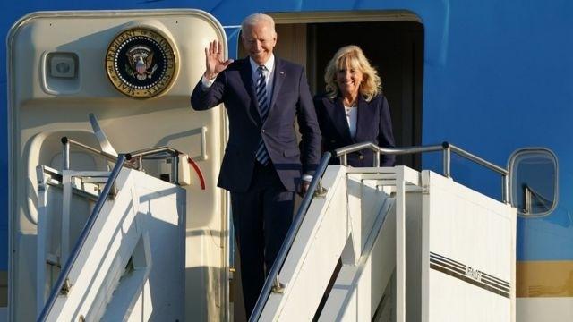美国总统拜登和夫人6月9日峰会前抵达英国